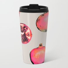 Pomegranate Pattern Metal Travel Mug