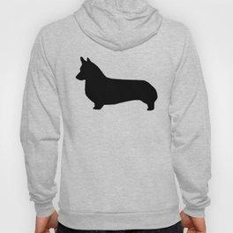 Corgi black and white welsh corgi silhouette dog breed custom dog patterns Hoody
