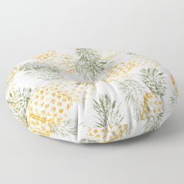 Pineapple mess Floor Pillow