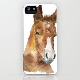 Horse Head Watercolor iPhone Case