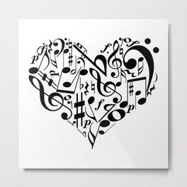 Music love Metal Print