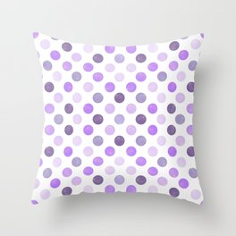 Watercolor Dots Pattern III Throw Pillow