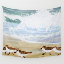 Sandpipers at Emerald Isle Wall Tapestry