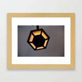 Hexagon Light Framed Art Print