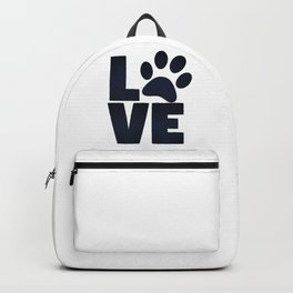 Love Pets Paw Cat Dog Cute Backpack