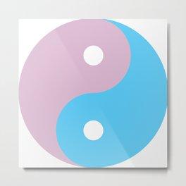 Transgender Yin Yang Symbol Metal Print