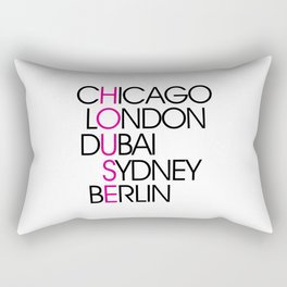Worldwide House EDM Quote Rectangular Pillow