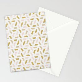 Bright abstract geometric pattern Stationery Cards