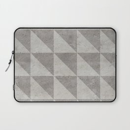 Grey concrete geometry vintage pattern Laptop Sleeve