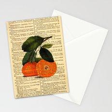Vintage Oranges Dictionary Art Stationery Cards