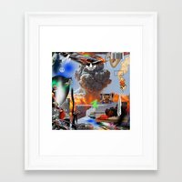 lebron Framed Art Prints featuring Show Me The Money by artbynatejames