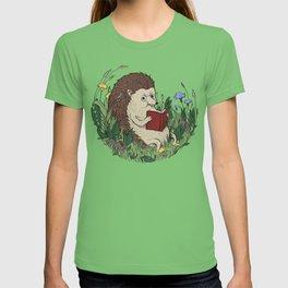 Hedgehog Reading A Book T-shirt