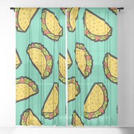 It's Taco Time! Sheer Curtain