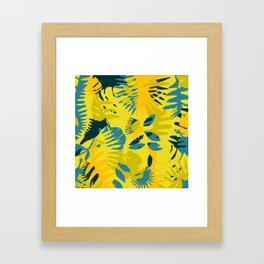 junglecamoyellow Framed Art Print