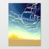 sail Canvas Prints featuring Sail by Megan Fitts