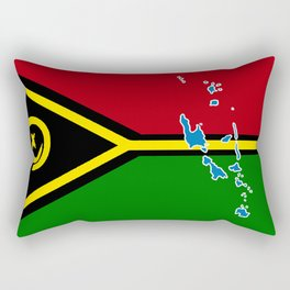 Vanuatu Flag with Map of Vanuatu Rectangular Pillow