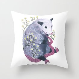 possum & fleabane Throw Pillow