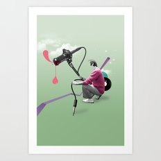 ILOVEMUSIC #3 Art Print