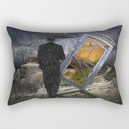 Through a Broken Window Rectangular Pillow