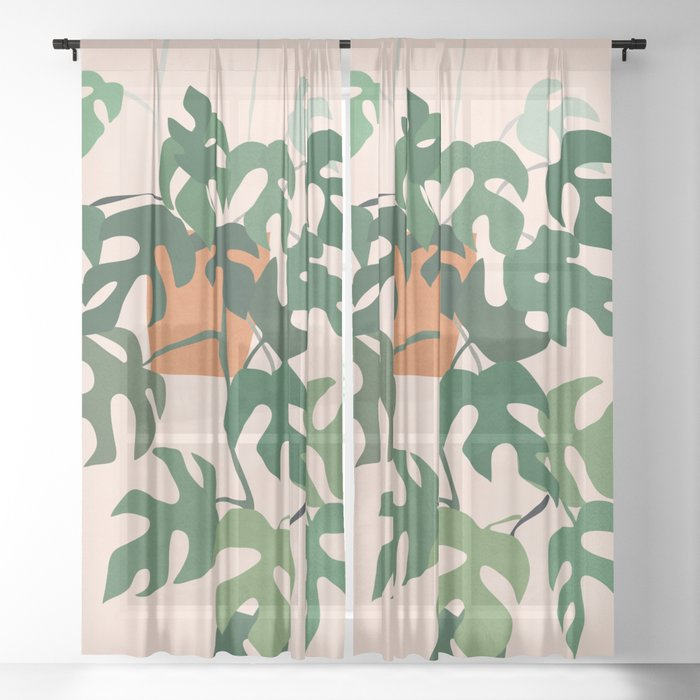 Plant 8 Sheer Curtain