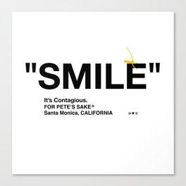 """SMILE"" Canvas Print"