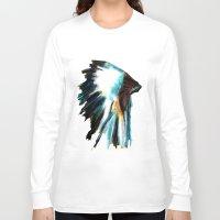 headdress Long Sleeve T-shirts featuring Headdress by James Peart