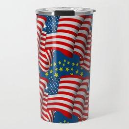 American Flag Pattern Travel Mug