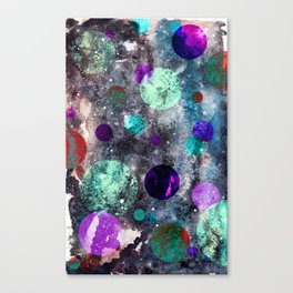 Dark Watercolor Spacey Weirdness Canvas Print