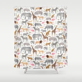 Safari Animals Shower Curtain