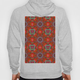 Abstract Flower Pattern AAA RRR BB Hoody