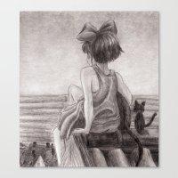 kiki Canvas Prints featuring Kiki by Kimberly Castello