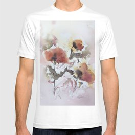 Abstract flowers (watercolor and ink) T-shirt