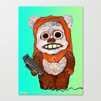 ewok Canvas Prints featuring Eccentric Ewok by Jordan Soliz