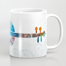 Colorful Violin Art by Sharon Cummings Mug