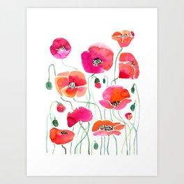 Wild Poppies Light Art Print