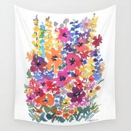 Bright Summer Garden Wall Tapestry
