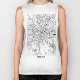 Milan White Map Biker Tank