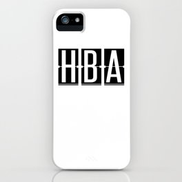 HBA - Hobart - Tasmania  Airport Code Souvenir or Gift Design  iPhone Case