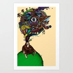 BigFoot & the Electrogasms Art Print