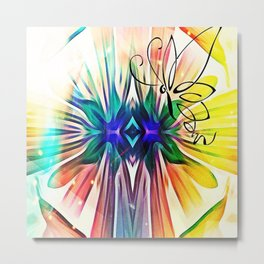 Shapes Fly Metal Print