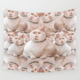 cage cat collage Wall Tapestry