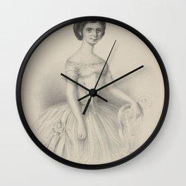 Ricci Pia creator SchmiedPia RicciAdditional Portrait Wall Clock