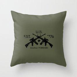 M4 Assault Rifles Throw Pillow