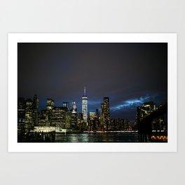 NYC Skyline from BK Art Print