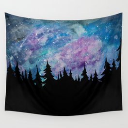 Galaxies and Trees Wall Tapestry