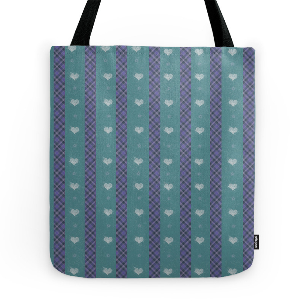 Purple and Green Plaid Tote Purse by harushadows (TBG7601275) photo