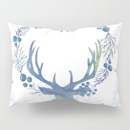 Stag Of The Winter Evergreens Pillow Sham