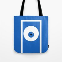 monsters inc Tote Bags featuring Monsters inc (no title) by Citron Vert