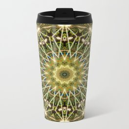 Geometric Forest Mandala Metal Travel Mug