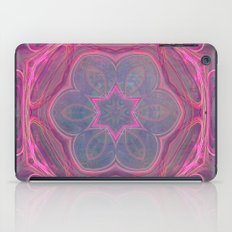 whimsical fractal love in pink iPad Case